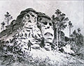 Liebscher, Karel - kamenne hlavy u Zeliz edit.jpg