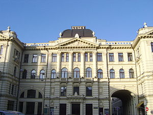 Tautiška giesmė - The building where the 1905 Seimas took place. It currently houses the National Philharmonic Society of Lithuania.