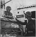 Lieutenant Colonel Lyle Bernard and Lieutenant General George S. Patton near Brolo, 1943 28-1162M original.jpg