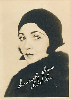 Lila Lee Prominent screen actress of the early silent film era
