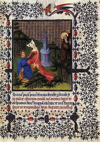 Belles Heures of Jean de France, Duc de Berry - Story of a saint