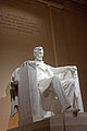 Lincoln Memorial statue from angle at night.jpg