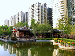 Lingnan garden - Hong Kong's Lai Chi Kok has a Lingnan Garden, which, as its name implies, is a Cantonese-style garden.