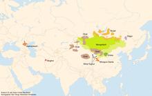 Розповсюдження мов монгольської