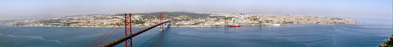 Панорамное изображение Лиссабона