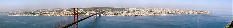 Panorama Lizbony (kliknij aby powiększyć)