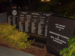 Gilbert Chagoury - List of donors at the Beverly Hills 9/11 Memorial Garden in Beverly Hills, California