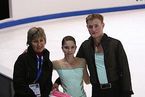 Vera Bazarova - Bazarova/Larionov at the 2007 Skate America with former coach Ludmila Kalinina