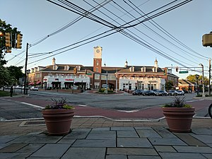 Livingston, New Jersey - Town Center from the corner of Livingston Ave and Route 10.