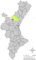 Localització de Sacanyet respecte del País Valencià.png