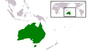 Ausztrália fekvése