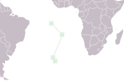 Location of Saint Héléna, Ascension, jeung Tristan da Cunha