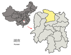 Location of Changde Prefecture within Hunan (China).png
