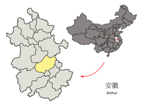 Location of Chaohu Prefecture within Anhui (China).png