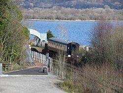 Loch Awe Station car park - Mark 1 Coach.JPG