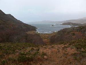 Sound of Arisaig - Loch nan Uamh from below Polnish