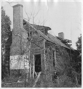 Locust Grove (Dillwyn, Virginia) - The house prior to its restoration