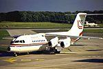 Loganair BAe 146 at MAN (29715255116).jpg