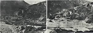 Longarone - Pre- (1960) and post-flood Longarone