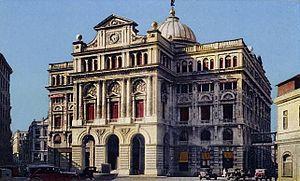 Lonja del Comercio building - The building in 1920