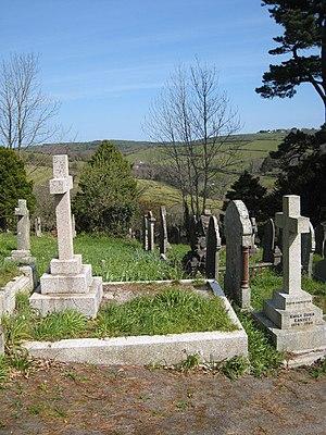 Kenwyn - Looking up the Allen valley from Kenwyn cemetery