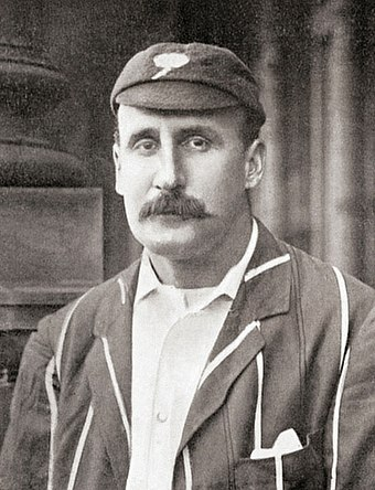 Lord Hawke, Yorkshire's captain, was probably largely responsible for Peel's suspension. Lord Hawke c1899.jpg