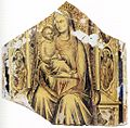 Lorenzo Monaco - Virgin and Child Enthroned with Sts John the Baptist and John the Evangelist - WGA13577.jpg