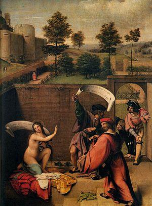 Susanna and the Elders (Lotto) - Image: Lotto, susanna e i vecchioni