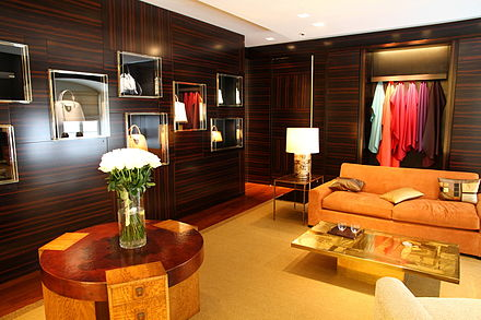 Louis Vuitton VIP room in Vienna for ordering custom designed goods. Louis Vuitton VIP room in Vienna.JPG