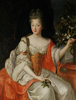 Louise-Françoise de Bourbon some time after her marriage to Louis III, Prince of Condé.