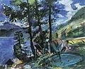 Lovis Corinth Walchensee mit Lärche 1923.jpg