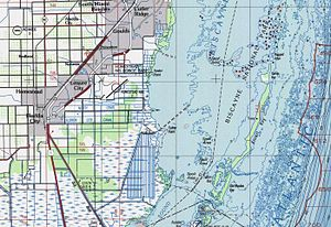 Biscayne Bay - Southern Biscayne Bay makes up the bulk of Biscayne National Park.