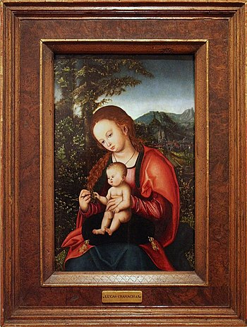 Lucas Cranach d. Ä. - Madonna met kind
