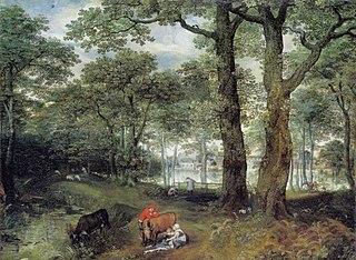 Animals Grazing beneath Trees