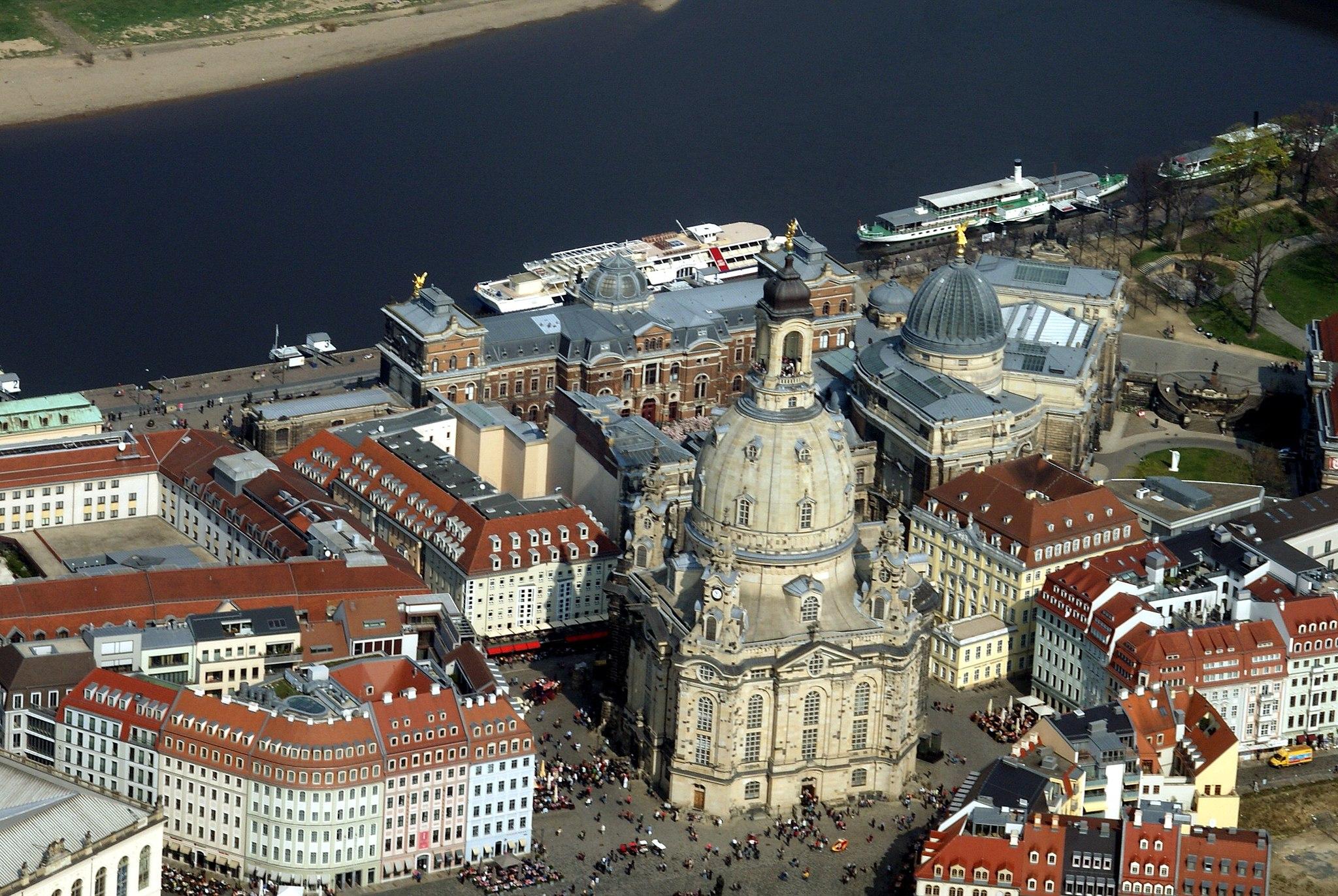 Luftbild Frauenkirche Dresden 2014-03-29 - 2