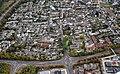 Luftbild Merl-Ortskern – Blick von der Gudenauer Allee Richtung Merler Dom, Dorfplatz.jpg