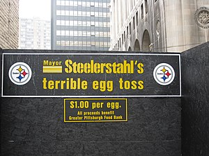 Luke Ravenstahl - Luke Steelerstahl's egg toss for charity.
