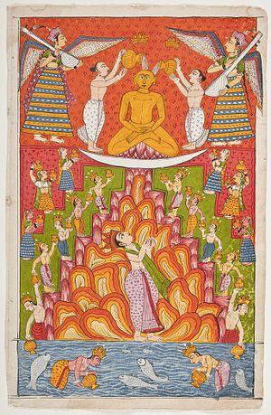 Bhaktamara Stotra - Illustrative of Rishabhanatha, Folio Bhaktamara Stotra