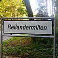 Luxembourg road sign F,14a Reilandermillen.jpg
