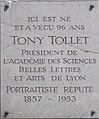 Lyon 2e - Plaque Tony Tollet.jpg