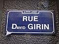 Lyon 2e - Rue David Girin - Plaque 2 (mars 2019).jpg