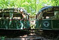 MBTA streetcars at Vintage Electric Streetcar Company, May 2014.jpg