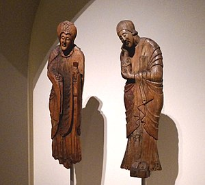 Erill la Vall Descent from the Cross - The Virgin and Saint John at the National Art Museum of Catalonia.