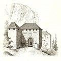 MZK 05 - 1860 Hochosterwitz in Kärnthen (Scheiger) Fig. 01 Hochosterwitz - Erstes Torhaus.jpg