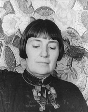 Mabel Dodge Luhan - Portrait of Mabel Dodge Luhan by Carl Van Vechten, 1934.