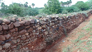 Madukkarai Wall - Section of the Madukkarai Wall near Sankaranmalai