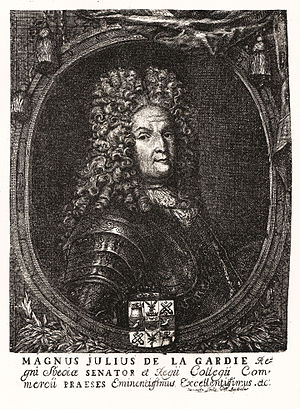 Magnus Julius De la Gardie - Engraving