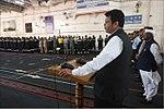 Maharashtra CM Devendra Fadnavis addressing the crew of INS Vikramaditya.jpg