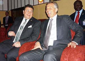 Maher El-Adawy - Ambassador El-Adawy with former Prime Minister Tony Blair.