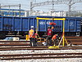 Maintenance work on Korean railway.jpg